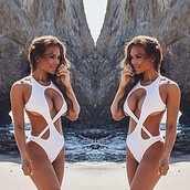 swimwear,white,one piece swimsuit,sexy,sexy swimwear,tumblr