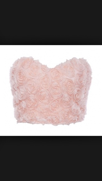 top rose pink crop tops pretty embellished girly cute