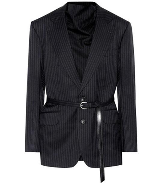 Junya Watanabe X Comme des Garçons cotton-blend blazer in blue