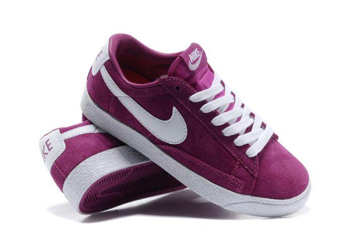 womens nike lilac blazer low suede trainers