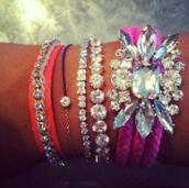 jewels,bracelets,crystal,colorful