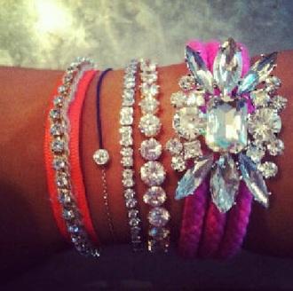 jewels bracelets crystal colorful