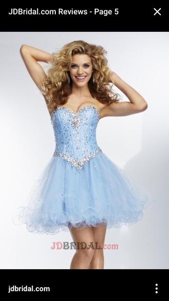 dress homecoming dress prom dress blue blue dress rhinestones