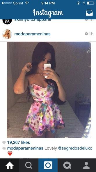 dress flowers instagram dress floral dress mini dress