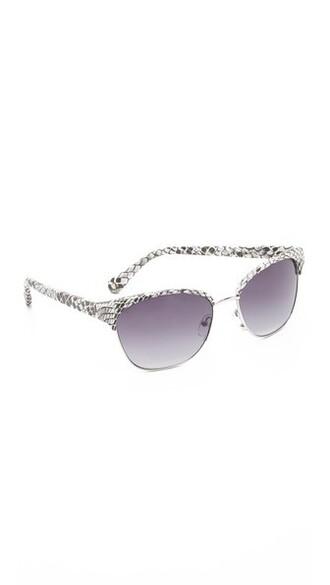 sunglasses white purple