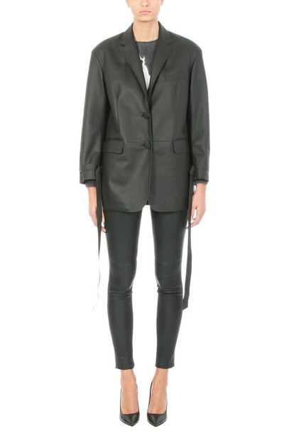 neil barrett jacket leather jacket leather black