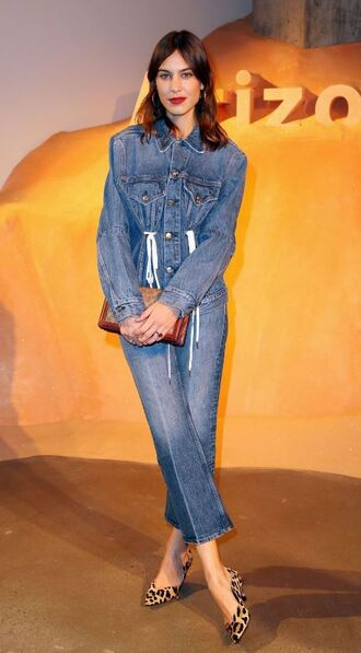 jeans denim jacket denim alexa chung ny fashion week 2018 fashion week jacket all denim