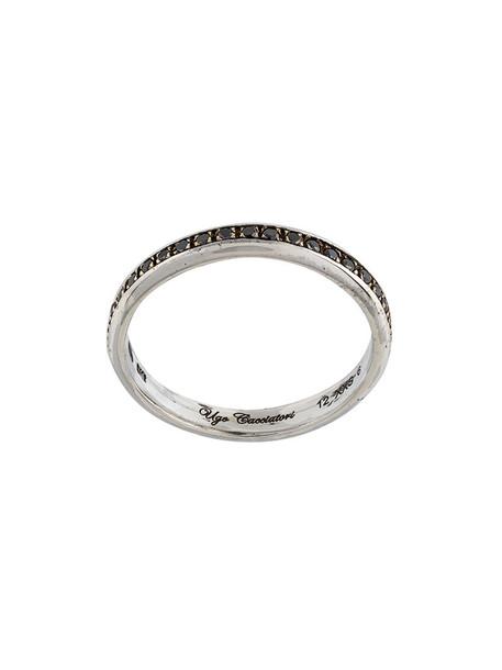 Ugo Cacciatori women ring gold black grey metallic jewels