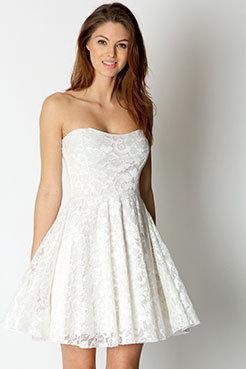 astalind23's save of Lulu Lace Bandeau Skater Dress on Wanelo