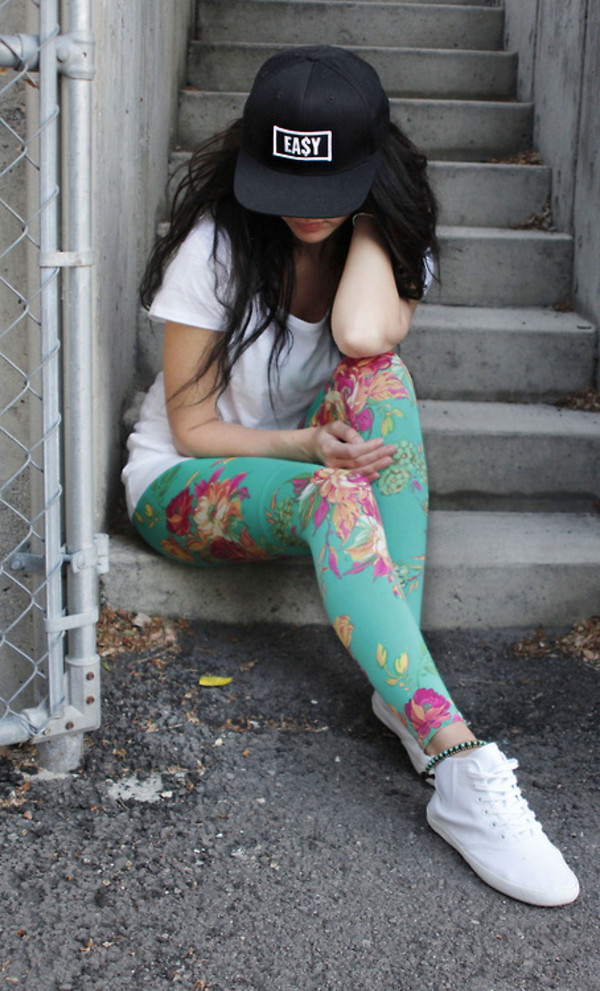 jeans leggings floral