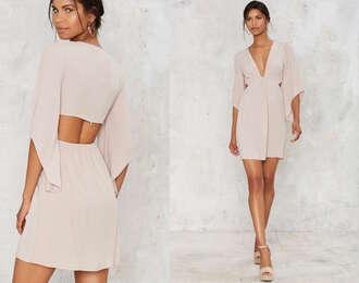 dress cut-out backless blush pink