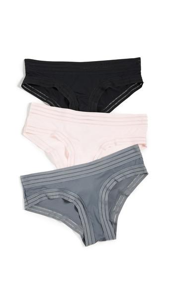 Honeydew Intimates Micki 3 Pack Hipster Panties in black / pink