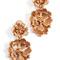 Oscar de la renta blooming bold flower drop clip on earrings