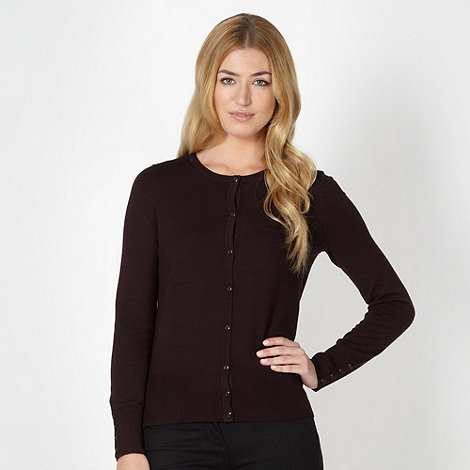 Collection Chocolate brown stretch cardigan- at Debenhams.com