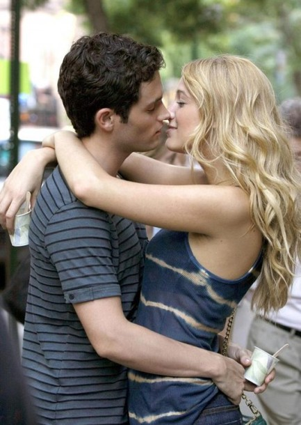 tank top serena van der woodsen serena tie dye stripes blue navy gossip girl blake lively