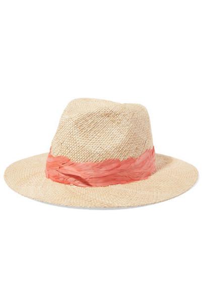 embellished beige hat