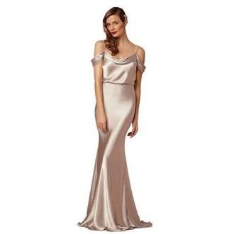 dress champagne satin satin dress evening dress long evening dress