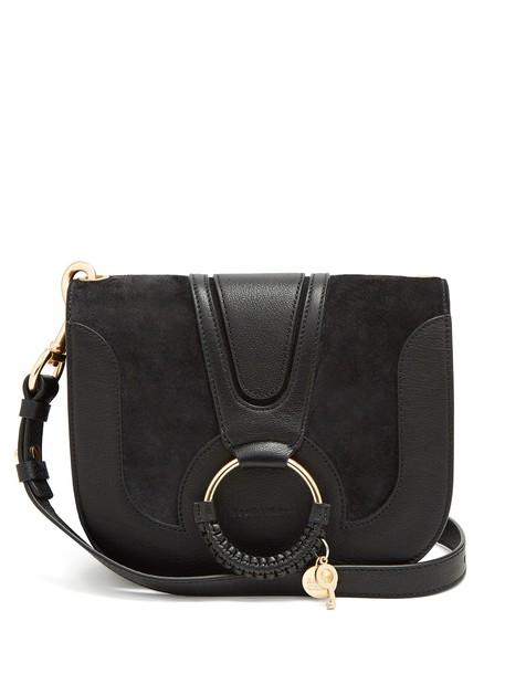 See by Chloe cross bag gold suede black