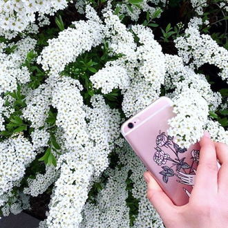 phone cover yeah bunny rose retro cute floralc clear flowers hands boho