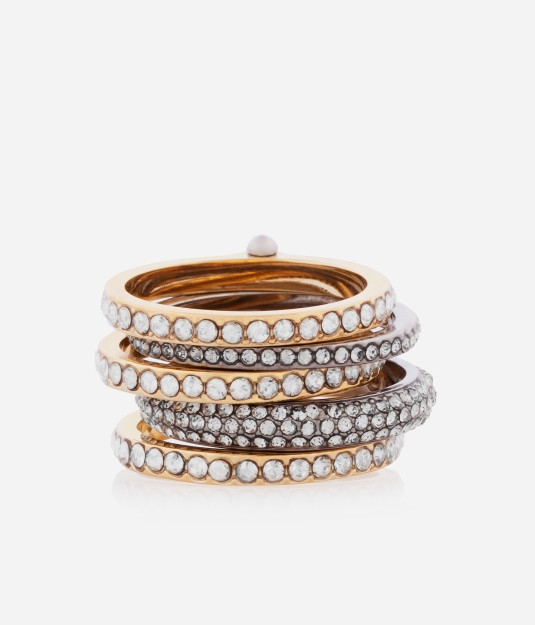 petite hand me down stack ring - designer rings - fashion bridal accessories