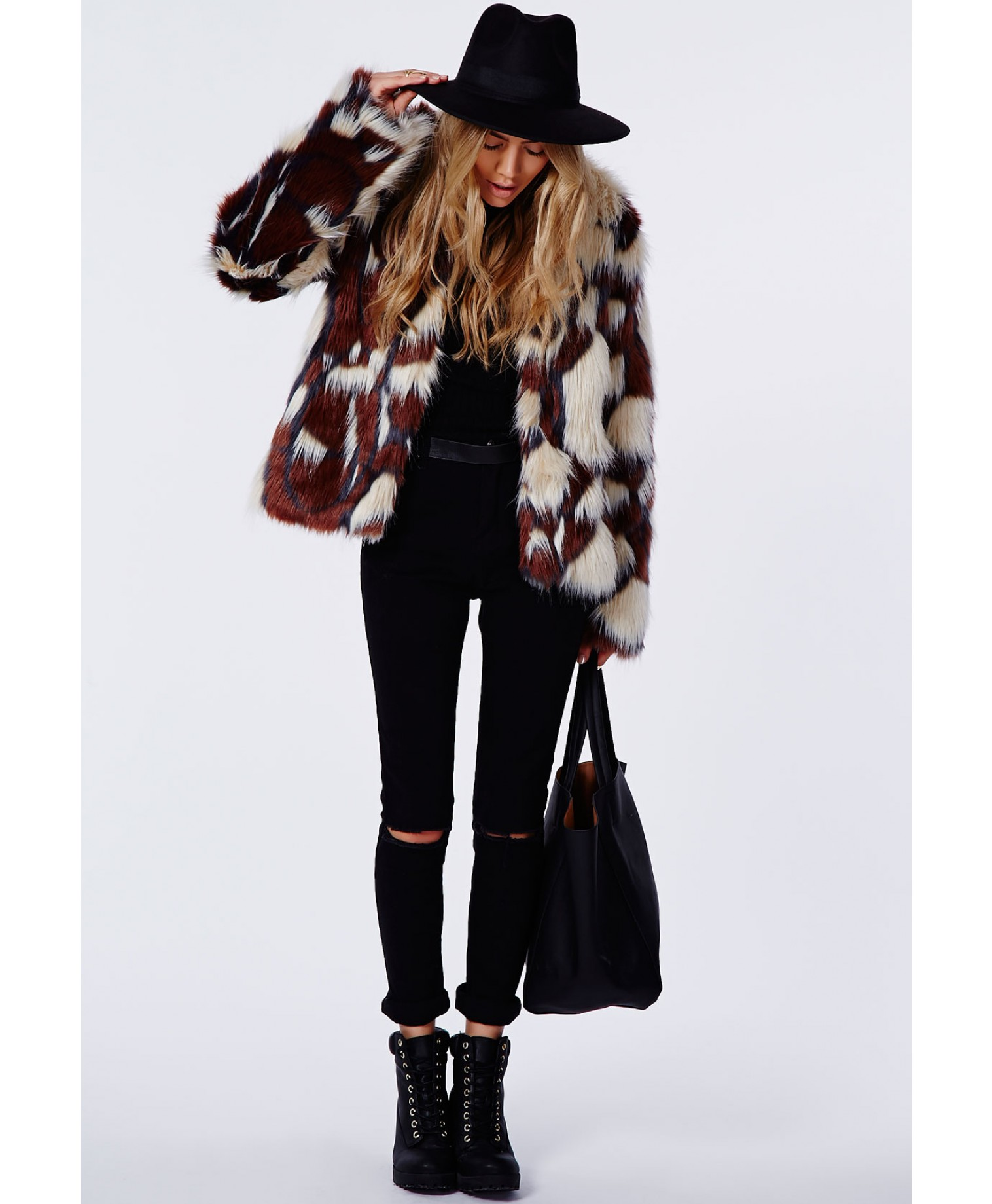 Missguided - Amber Mixed Faux Fur Jacket
