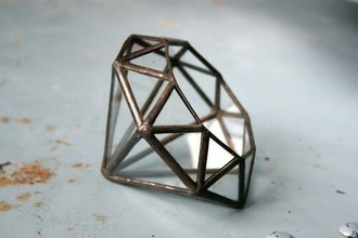 home accessory planter geometric diamonds