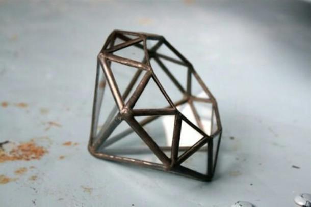 jewels home accessory terrarium geometric diamonds
