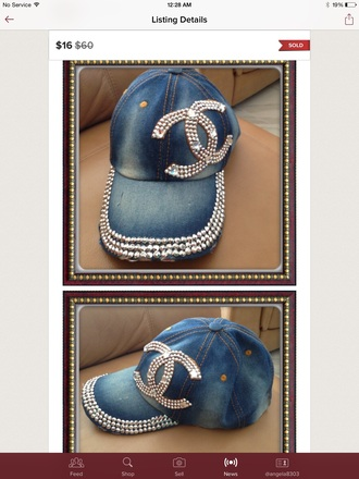 hat blk blue