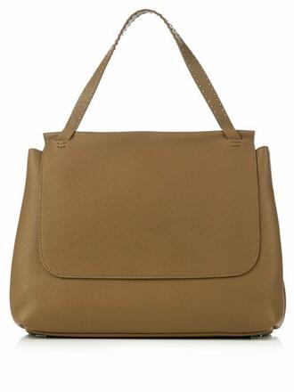 bag shoulder bag leather khaki