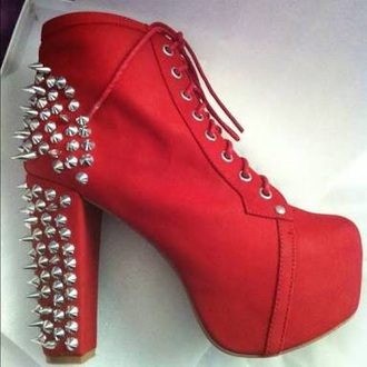 shoes red lita spike jc jeffrey campbell dolls kill trendy