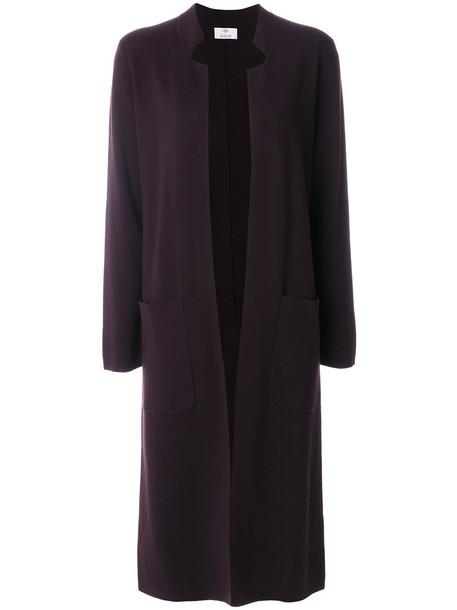 coat long women wool purple pink