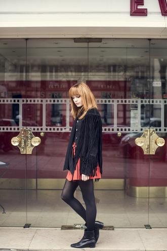 miss pandora blogger jacket top skirt shoes