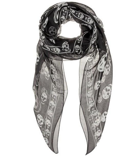 Alexander Mcqueen scarf silk scarf silk black