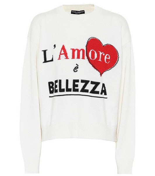 Dolce & Gabbana Cashmere sweater in white