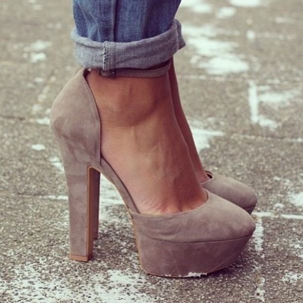 8dfe8ee2a11cf shoes nude high heels cute high heels high heels shoes heels elegant brown  platform highheels grey