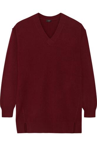 sweater wool sweater wool burgundy