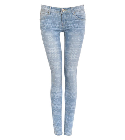 Zoe Aztec Print Skinny Jeans in Light Denim by Pilot | Pilot