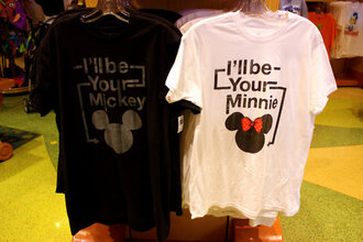 t-shirt minie mickey mouse disney cute couple black white red