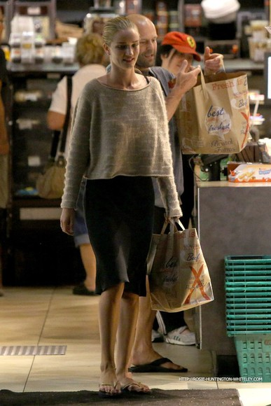 rosie huntington-whiteley shoes sweater slippers