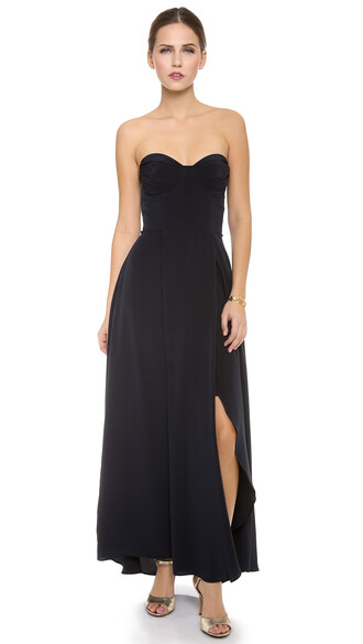 dress strapless navy