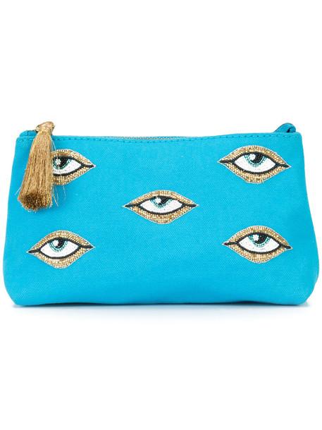 Figue women pouch cotton blue bag
