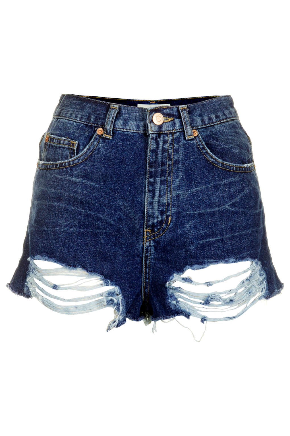 MOTO Mom Shorts in Distressed-Optik - Denim-Shorts - Shorts - Bekleidung