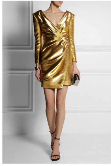 dress metallic dress gold metallic mini dress