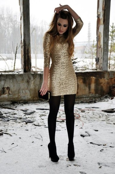 dress sequins sequin dress gold bag