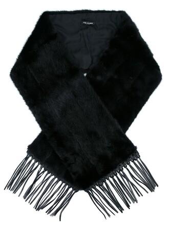 oversized scarf oversized fur women scarf black silk