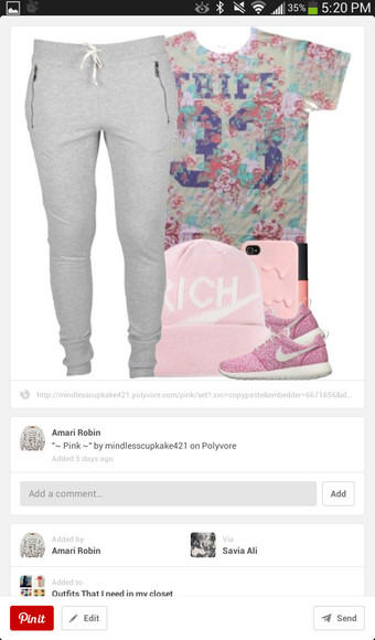 swag shirt streetwear urban youth sweatpants girly floral