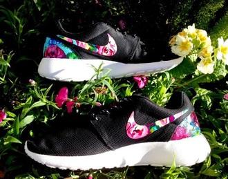 shoes nike roshe black floral nike black white nike roshe run run floral rose running shoes
