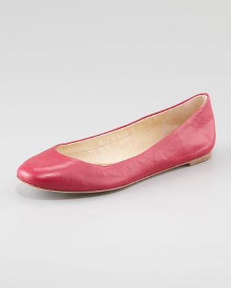 Vera Wang Lavender Lara Ballerina Flat, Cerise Pink - Neiman Marcus