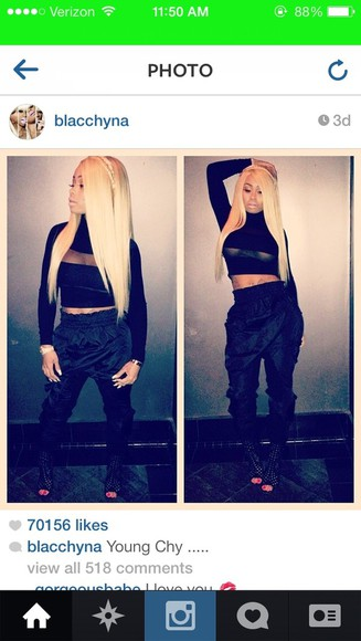 black shirt black shirt blac chyna mesh black crop top crop-tops pants