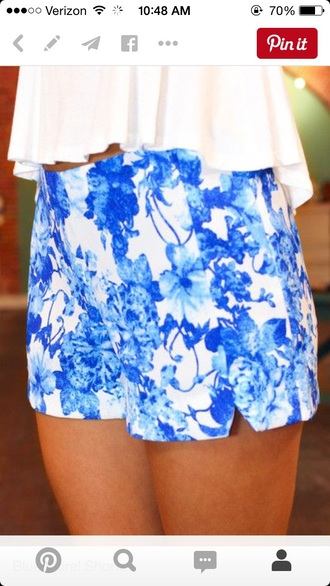 shorts floral high waisted